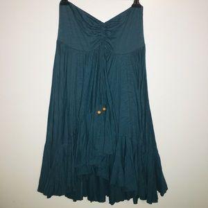 Free People | Teal Strapless Mini Dress